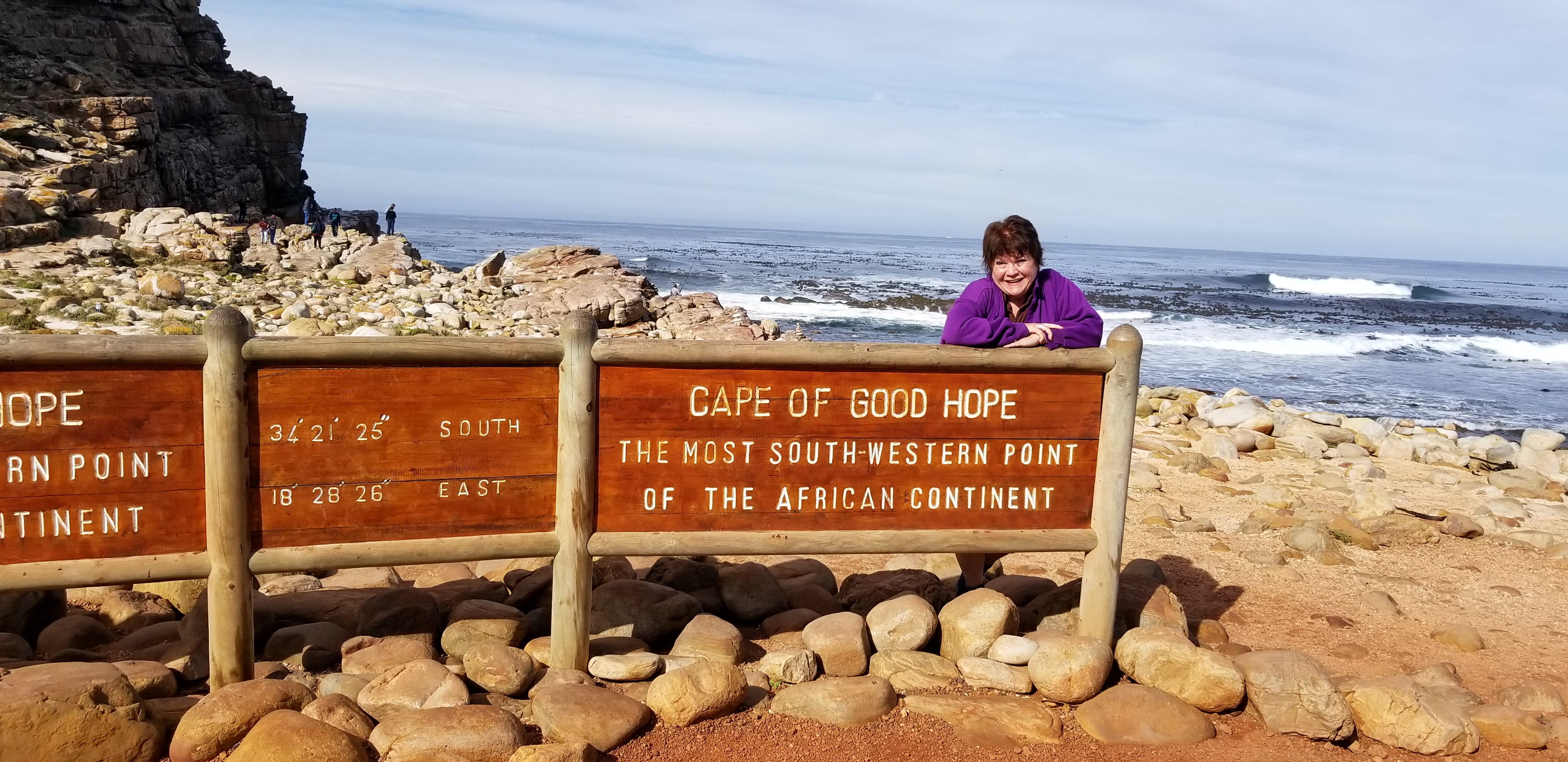 Marcy at Cape of Good Hope