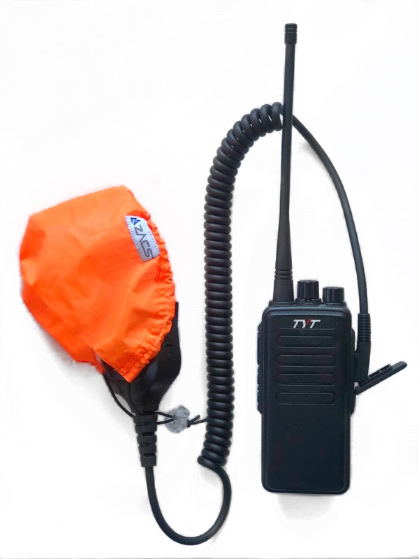 Steps to install water resistant cover on radio mic