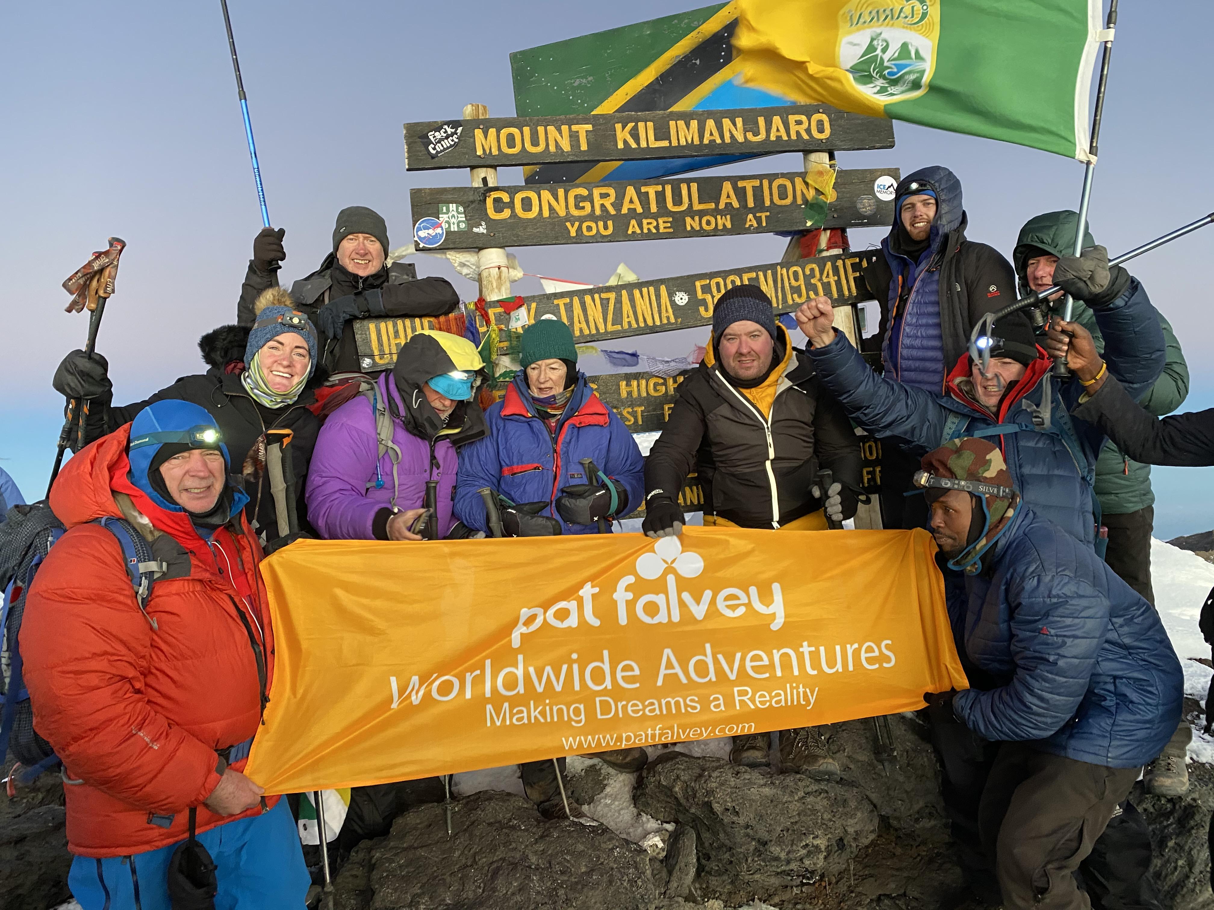 Kilimanjaro team February 2020