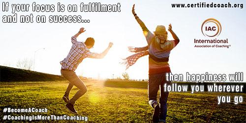 如果任您的FCU-是上充實和 - 不上的成功,當時的幸福 - 會 - 跟踪你,無論你去