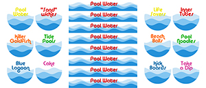 image relating to Pool Party Printable identify Pool Birthday Get together - recipes labels Ashlee Marie - accurate