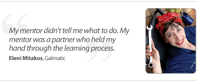 """""""My mentor was a partner who helped me through the learning process."""""""