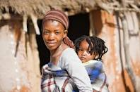 African Woman and Baby