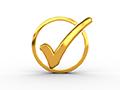 Gold checkmark
