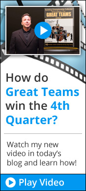 How do Great Teams win the 4th Quarter?  Watch my new video in today's blog!