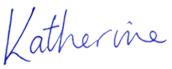 Katherine Hurst, signature