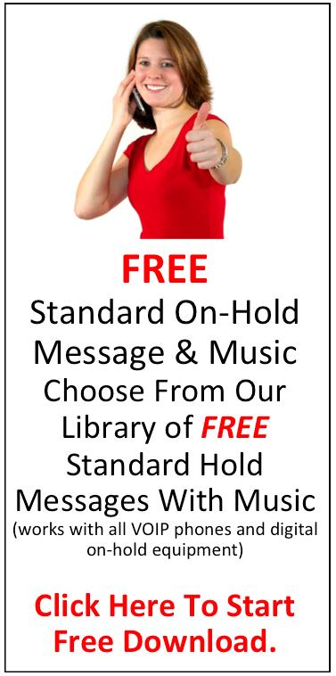 Free on hold message by pleasehold.com