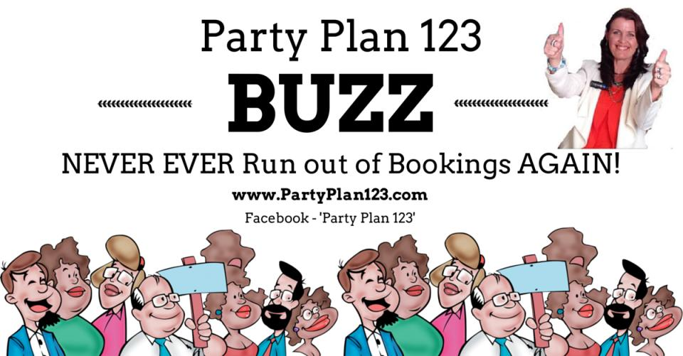 Party Plan 123 BUZZ Logo